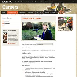 Conservation Officer - Lantra Careers