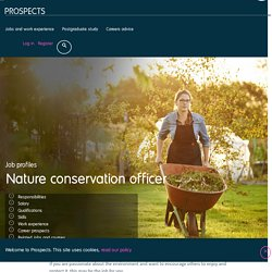 Nature conservation officer job profile