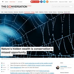 Nature's hidden wealth is conservation's missed opportunity