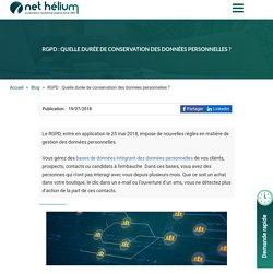 RGPD : Quelle durée de conservation des données personnelles ?