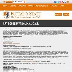 Art Conservation, M.A., C.A.S. -Buffalo State, NY