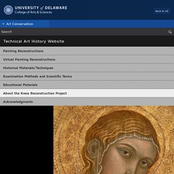 Art Conservation at the University of Delaware : Kress Reconstruction Project
