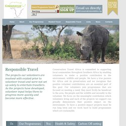 Responsible Travel in Africa