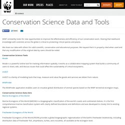 Conservation Science Data and Tools