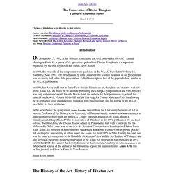 The Conservation of Tibetan Thangkas