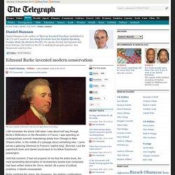 Edmund Burke invented modern conservatism