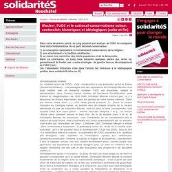 Neuchâtel - Blocher, l'UDC et le national-conservatisme suisse: continuités historiques et idéologiques (suite et fin)