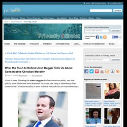What the Rush to Defend Josh Duggar Tells Us About Conservative Christian Morality
