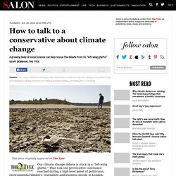 How to talk to a conservative about climate change