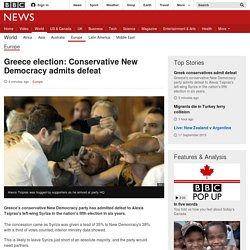 Greece election: Conservative New Democracy admits defeat - BBC News