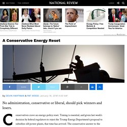 Conservative Energy Policy: Let the Market Decide