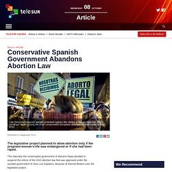 Conservative Spanish Government Abandons Abortion Law