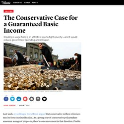 The Conservative Case for a Guaranteed Basic Income