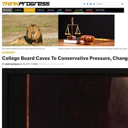 College Board Caves To Conservative Pressure, Changes AP U.S. History Curriculum