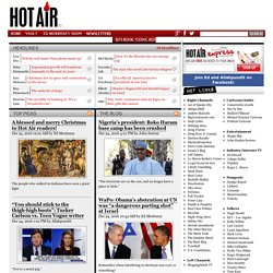 HotAir — Politics, Culture, Media, 2012, Breaking News from a conservative viewpoint