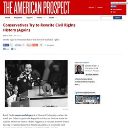 Conservatives Try to Rewrite Civil Rights History (Again)