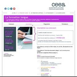 Inscription - Ceea - Conservatoire européen d'écriture audiovisuelle