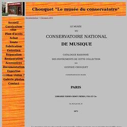 Chouquet, livre 1875, le musée du conservatoire, catalogue.