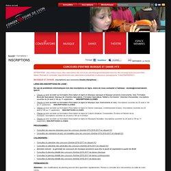 Conservatoire de Lyon : Inscriptions