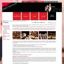 Conservatoire de Lyon : Le Conservatoire à l'école