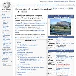 Conservatoire à rayonnement régional de Bordeaux