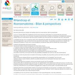 #Handicap et #conservatoires - Bilan & perspectives