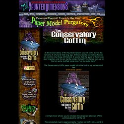 Conservatory Coffin Paper Model Kit