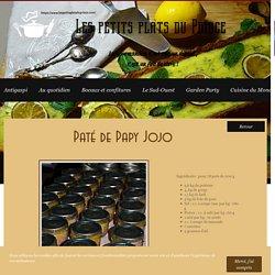 Conserve de paté de Papy Jojo