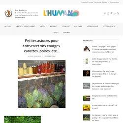 Petites astuces pour conserver vos courges, carottes, poires, etc… – L'Humanosphère