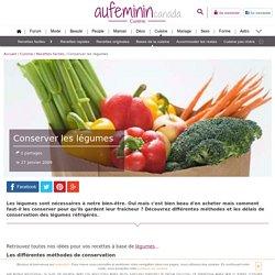 Conserver les légumes