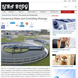 Conserving Water and Controlling Wastage