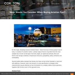 What Should You Consider When Buying Aviation Fuel?