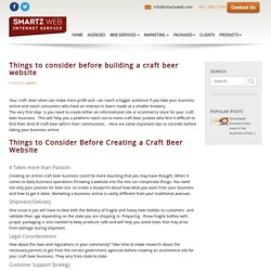 Things to consider before building a craft beer website