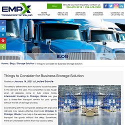 Things to Consider for Business Storage Solution