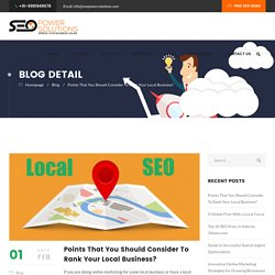 Points That You Should Consider To Rank Your Local Business? - SEO Power Solutions