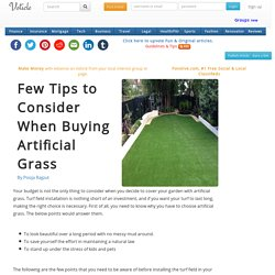 Few tips to consider when buying artificial grass
