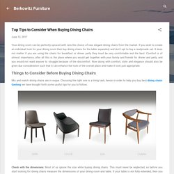 Top Tips to Consider When Buying Dining Chairs