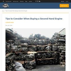 Buy Secondhand Engine - CarpartAU