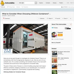 What to Consider When Choosing Offshore Containers? - All