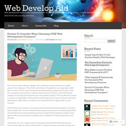 Factors To Consider When Choosing a PHP Web Development Company?