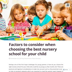 Factors to consider when choosing the best nursery school for your child