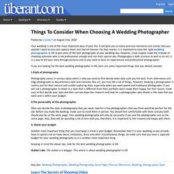 Top Tips ForChoosing A Wedding Photographer