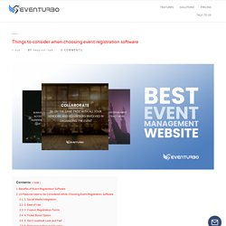 Things to consider when choosing event registration software