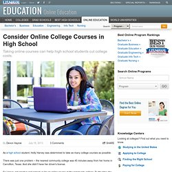 Consider Online College Courses in High School