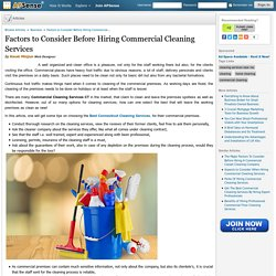 Factors to Consider Before Hiring Commercial Cleaning Services by Kwak Minjun