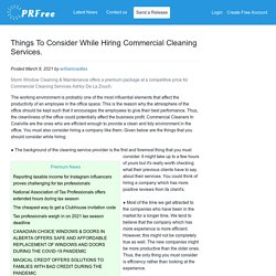 Things To Consider While Hiring Commercial Cleaning Services.