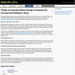 Things to Consider Before Hiring A Company for Commercial Roofing in Texas