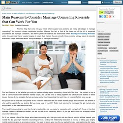 Marriage Counseling in Riverside