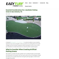 What to Consider When Designing a Putting Green in San Antonio, TX