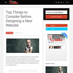 Top Things to Consider Before Designing a New Website